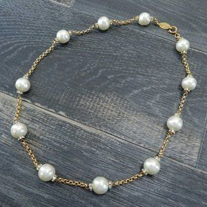 Chanel Crystal and Faux Pearl Vintage Necklace
